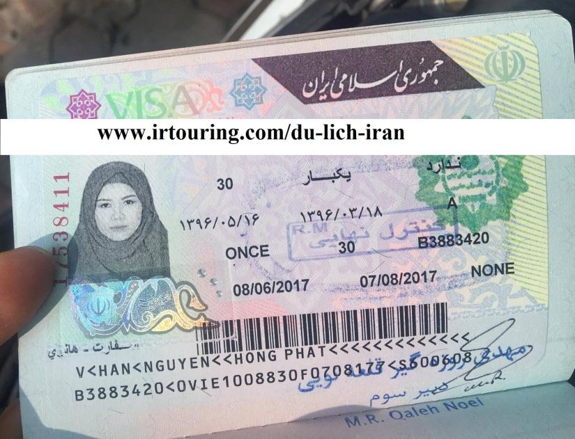 xin visa du lịch Iran tại đây